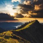 Sonnenuntergang im Tegernseer Tal