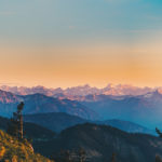 Alpenpanorama zum Sonnenuntergang