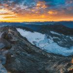 Sonnenaufgang am Gipfel des Hochfeiler (3509m)